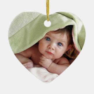 Peek-A-Boo Baby Ceramic Ornament