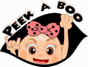 1cd1260634c04 Peek-a-boo baby girl maternity T-Shirt