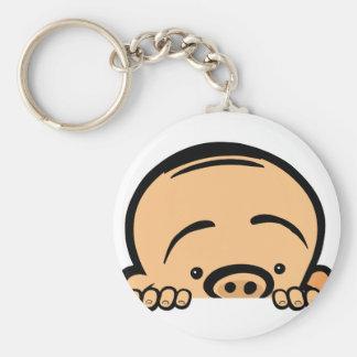 Peek a boo baby keychain