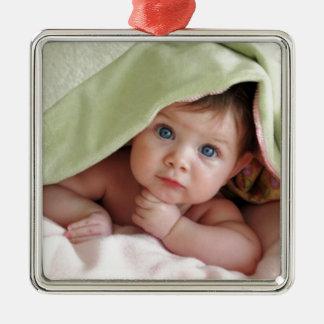 Peek-A-Boo Baby Metal Ornament