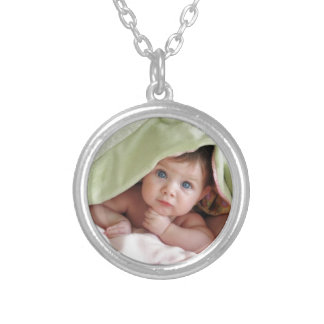 Peek-A-Boo Baby Silver Plated Necklace