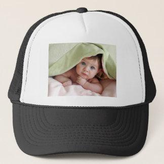 Peek-A-Boo Baby Trucker Hat