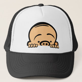Peek a boo baby trucker hat