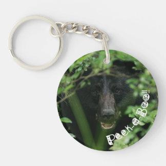 Peek-a-Boo Bear Acrylic Key Chains