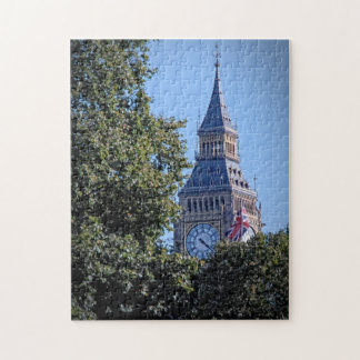 Peek-a-Boo - Big Ben Above the Trees Jigsaw Puzzle