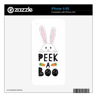 Peek-a-boo Black iPhone 4 Decals