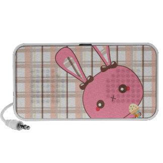 Peek A Boo Bunny Doodle Speaker