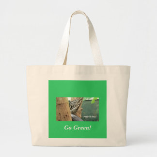 Peek-A-Boo Butterfly Large Tote Bag