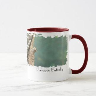 Peek-A-Boo Butterfly Mug