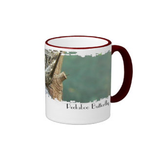 Peek-A-Boo Butterfly Ringer Mug