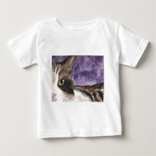 Peek a boo Calico Kitty Cat Baby T-Shirt