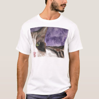 Peek a boo Calico Kitty Cat T-Shirt