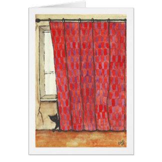 Peek A Boo Cat Card