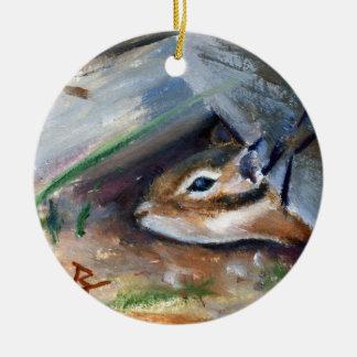 Peek-a-boo Chipmunk Ornament