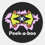 Peek-a-boo Classic Round Sticker