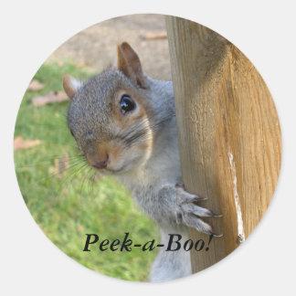 Peek-a-Boo! Classic Round Sticker