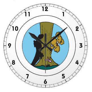 Peek A Boo Clock