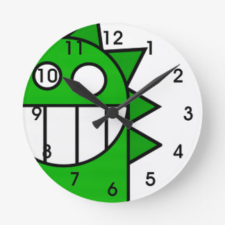 Peek-A-Boo Dragon Round Wall Clock