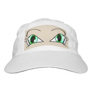 Peek A Boo Eyes Blue-Green Hat