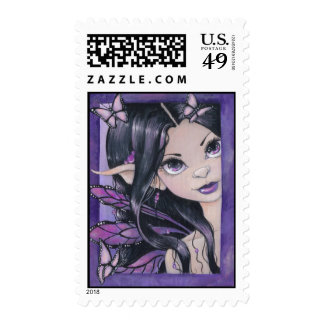 """Peek A Boo Fairy"" Postage Stamp"