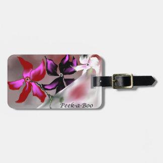 Peek-a-Boo Floral Design Bag Tag