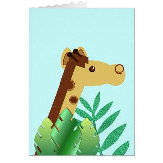 Peek-a-boo Giraffe 2 Card
