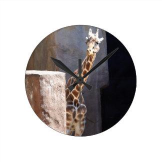 Peek-a-boo giraffe clocks