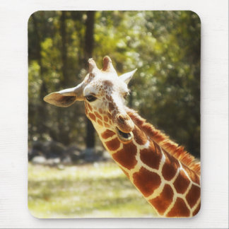 Peek-a-Boo Giraffe Mouse Pad