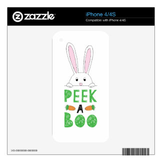 Peek-a-boo Green Decals For iPhone 4