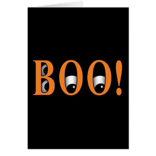 Peek a BOO! Halloween Eyes Card