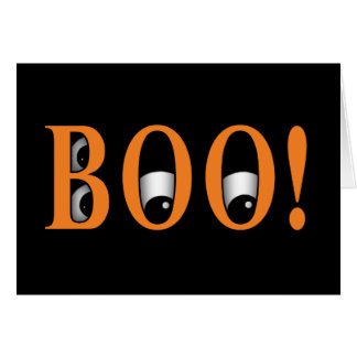 Peek a BOO! Halloween Eyes Card