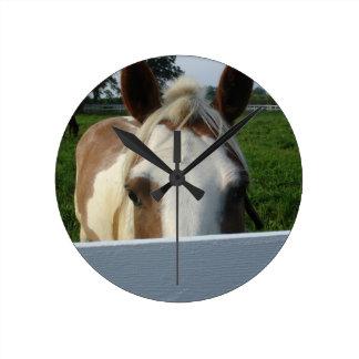 Peek a Boo Horse Clock