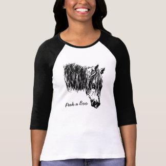 Peek a Boo Horse T-Shirt