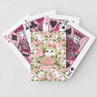 Peek-a-boo I love you Bicycle Playing Cards