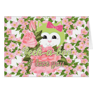 Peek-a-boo I love you Card