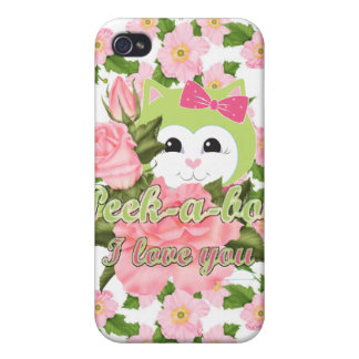 Peek-a-boo I love you iPhone 4/4S Cases