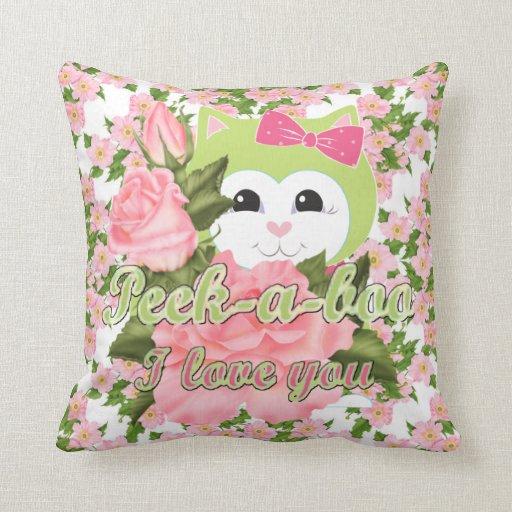 Peek-a-boo I love you Pillow
