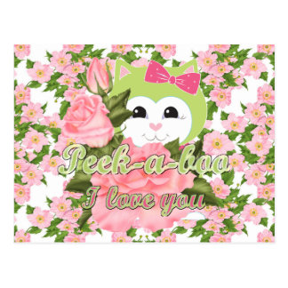 Peek-a-boo I love you Postcard