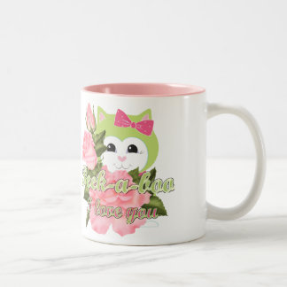 Peek-a-boo I love you Two-Tone Coffee Mug