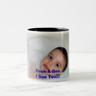 Peek-A-Boo!!  I See You!!! Two-Tone Coffee Mug