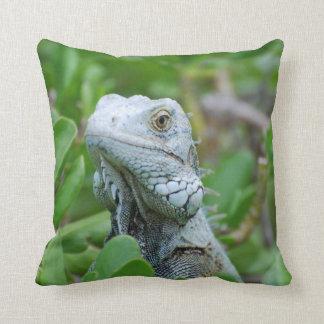 Peek-a-boo Iguana Throw Pillow