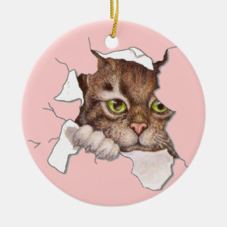 Peek A Boo Kitty 2 Christmas Ornament