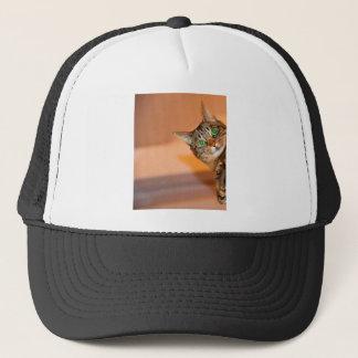 Peek A Boo Kitty Cat Trucker Hat