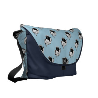 Peek a Boo Kitty Courier Bag