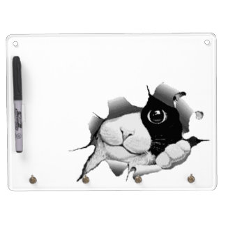 Peek A Boo Kitty Dry Erase Board With Keychain Holder