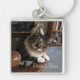 Peek-a-Boo Kitty Zorro Keychain