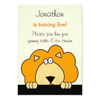 Peek a Boo Lion Birthday Party Invitation