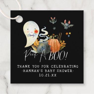 Peek-A-Boo   Little Ghost Halloween Baby Shower Favor Tags