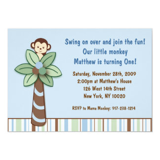 Peek A Boo Monkey Birthday Invitations