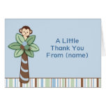 Peek A Boo Monkey Thank You Note Cards